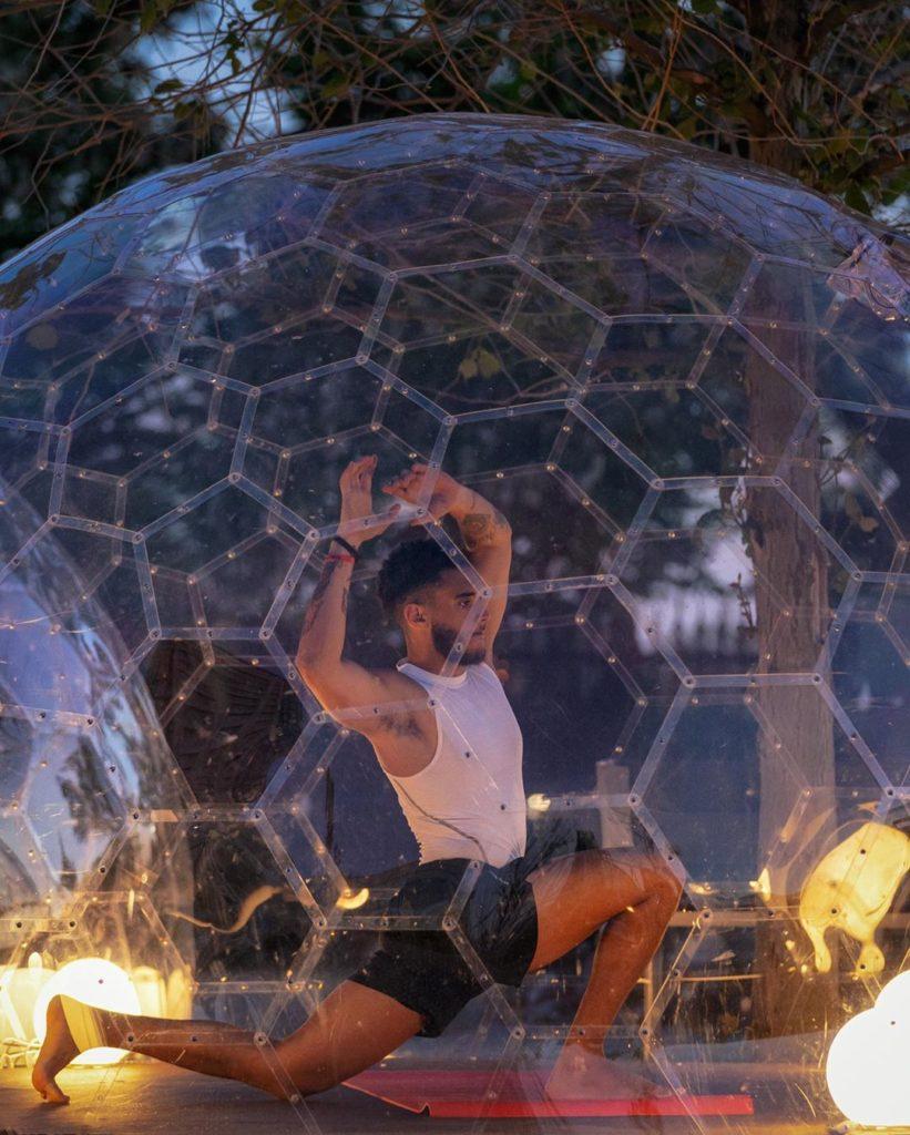 LMNTS Outdoor Yoga Domes