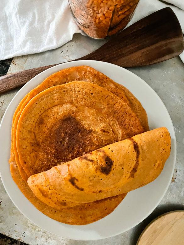 lentil tortilla wrap
